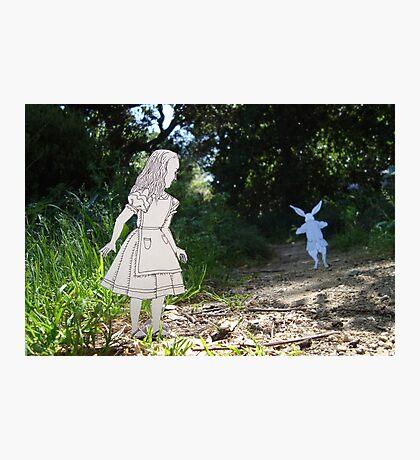 Alice and the White Rabbit Photographic Print
