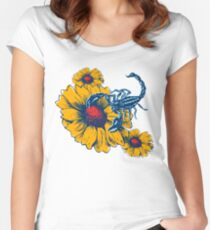 Scorpion Flowers Fitted Scoop T-Shirt