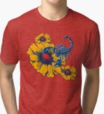 Scorpion Flowers Tri-blend T-Shirt