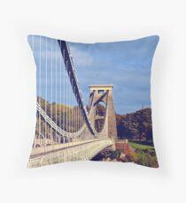 clifton suspension bridge, bristol, england Throw Pillow