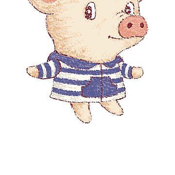 Chico lindo cerdo de sanogawa