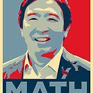 """Andrew Yang """"MATH"""" Poster by boxsmash"""