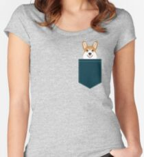 Teagan - Corgi Welsh Corgi gift phone case design for pet lovers and dog people Women's Fitted Scoop T-Shirt