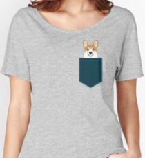 Teagan - Corgi Welsh Corgi gift phone case design for pet lovers and dog people Women's Relaxed Fit T-Shirt