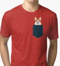 Teagan - Corgi Welsh Corgi gift phone case design for pet lovers and dog people Tri-blend T-Shirt