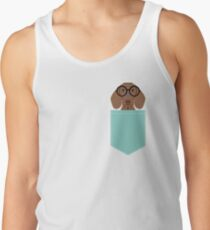 Remy - Fashion Glasses Doxie Dashcund Hipster Dog  Tank Top