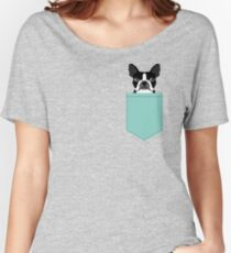 Logan - Boston Terrier pet design with bold and modern colors for pet lovers Relaxed Fit T-Shirt