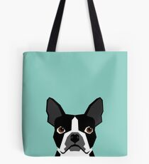 Logan - Boston Terrier pet design with bold and modern colors for pet lovers Tote Bag