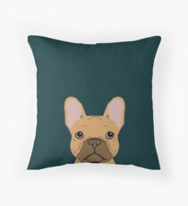 Willow - French Bulldog phone case art design for dog lovers and dog people Throw Pillow