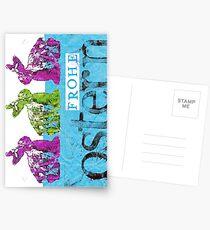 Frohe Ostern: Osterhasen-Treffen Postkarten