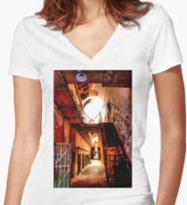 Long and Lonely Women's Fitted V-Neck T-Shirt