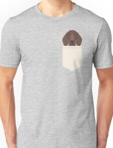 Piper - Dachshund, weener dog, wiener dog, pet portrait, sausage dog, pet Unisex T-Shirt
