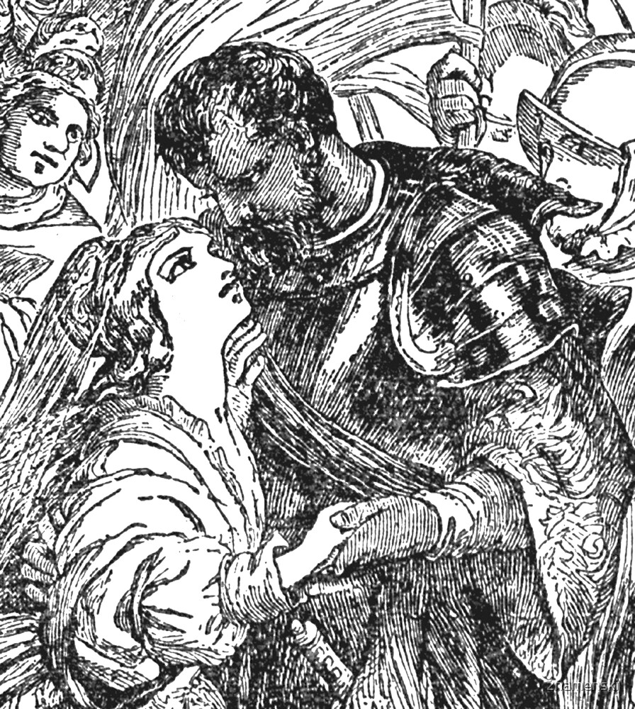 Othello and Desdemona by znamenski