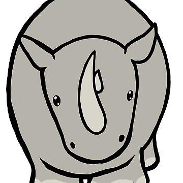 Wildlife Chibi - White Rhino by Shukura