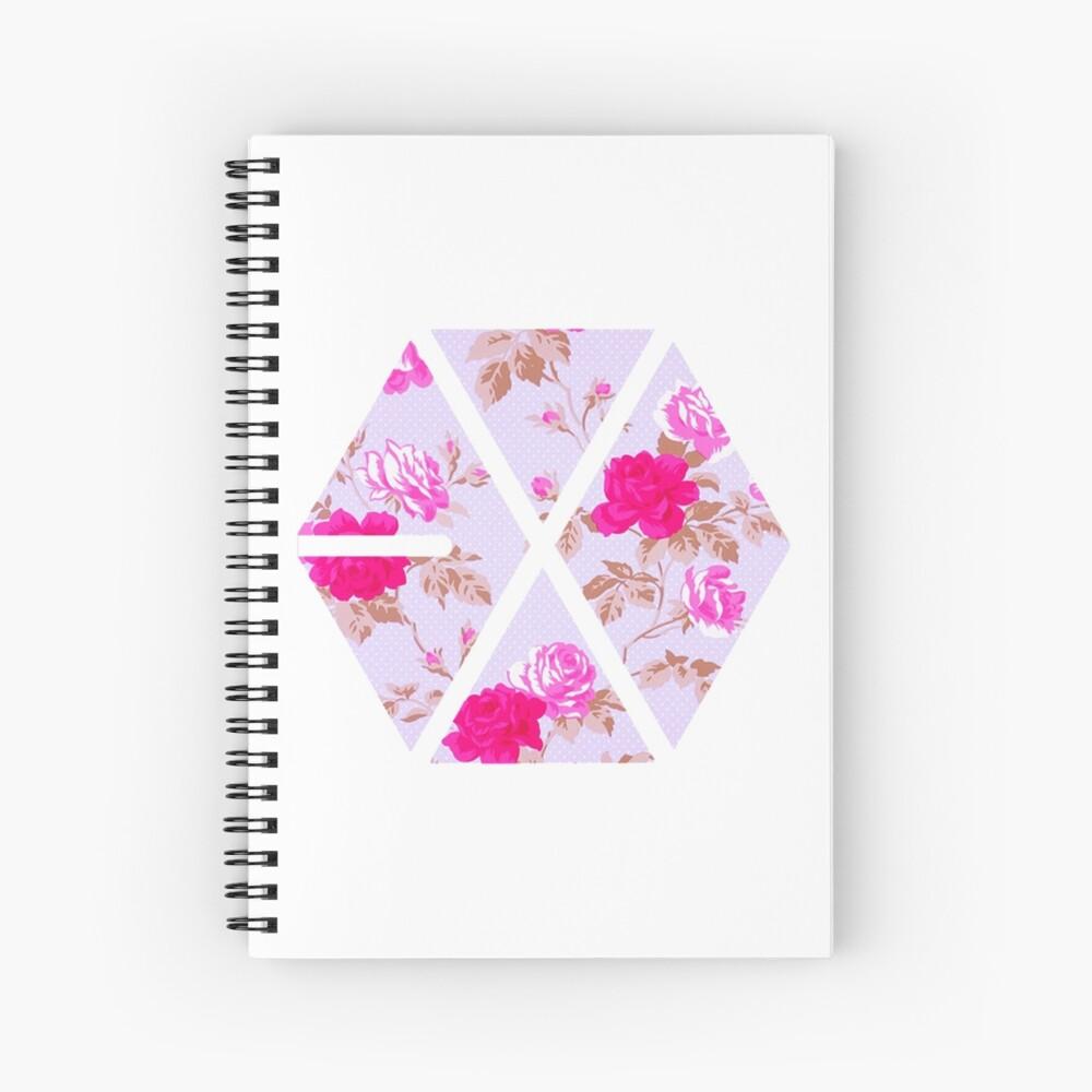 EXO - Blumen Spiralblock