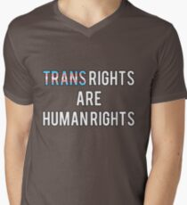 Trans Rights are Human Rights Men's V-Neck T-Shirt