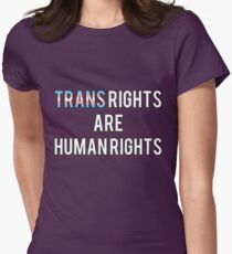 Trans Rights are Human Rights Women's Fitted T-Shirt