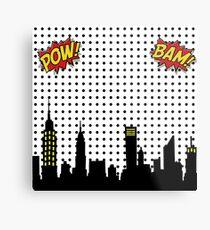 Superhero Scape Metal Print