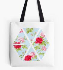 EXO - Blaue Blumen Tote Bag