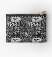 Nah Nah White on Black Palette Studio Pouch