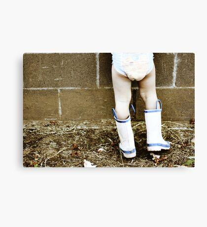 Garden boots Canvas Print