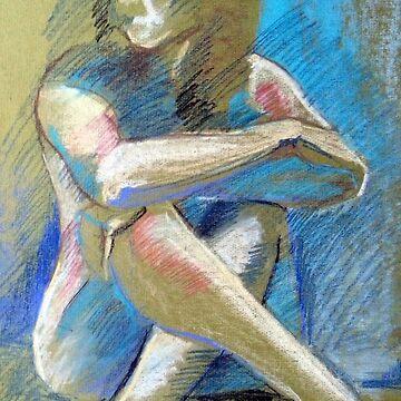 Figure Drawing, Pastel 1984 by joannaalmasude