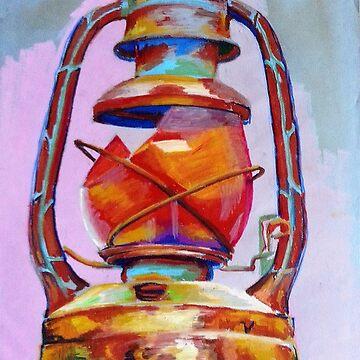 Broken Lantern: Oil Pastel by joannaalmasude