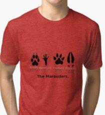 Marauders Animagus Footprint  Tri-blend T-Shirt