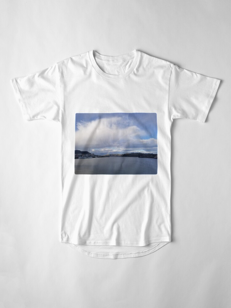 Alternate view of Sudden Rainbow Over the Cloudy Docks Long T-Shirt