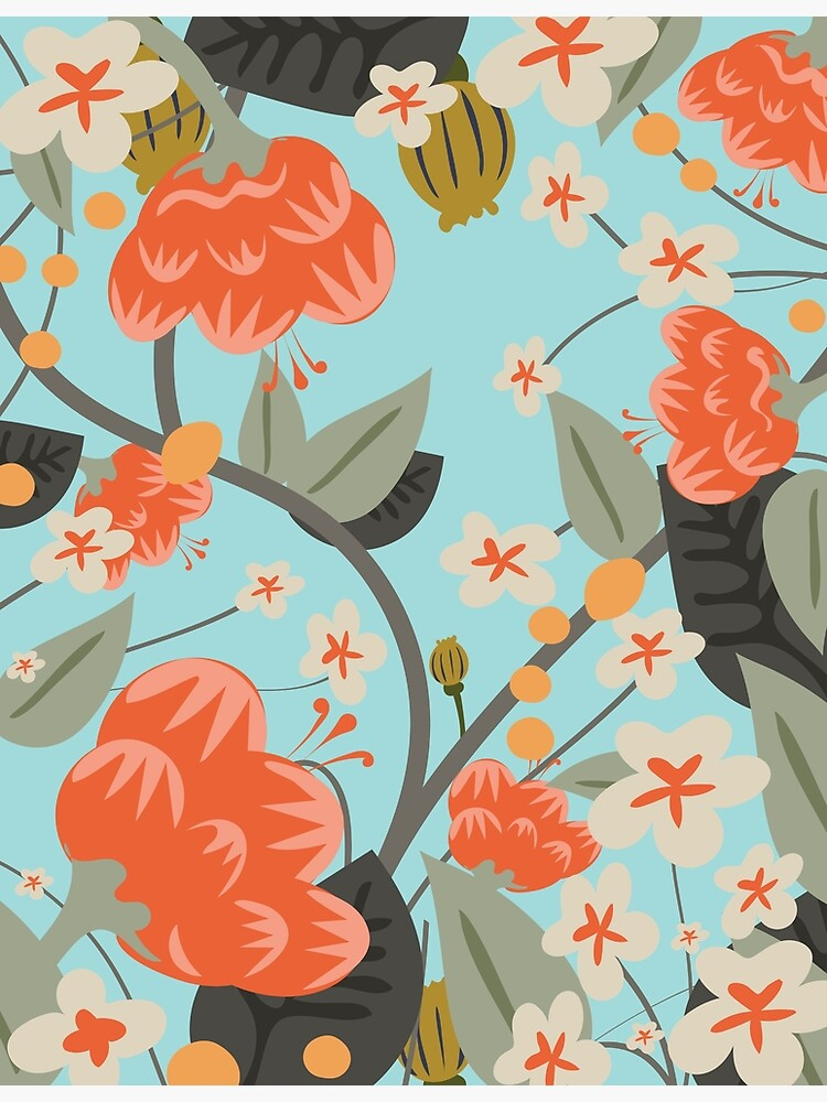 Old chintzy Floral Pattern by vectorwebstore
