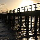 Pier walking by Christine Oakley
