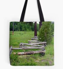 """Split Rail Fence"" Tote Bag"