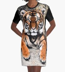 TIGER - GROSSKATZE - RAUBKATZE - WILDKATZE T-Shirt Kleid