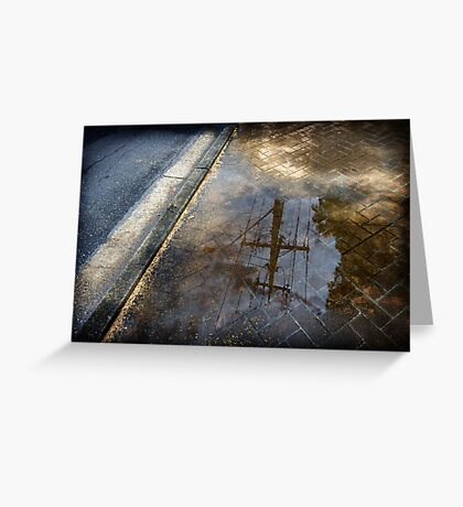 Power Puddle Greeting Card