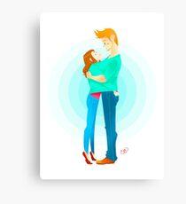 Community: Jeff & Annie Hugging  Canvas Print