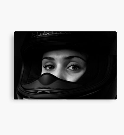 Bikie Girl Canvas Print