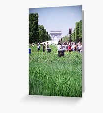 Green Champs Elysees Greeting Card