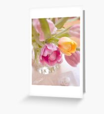 Tulip Faces   Greeting Card