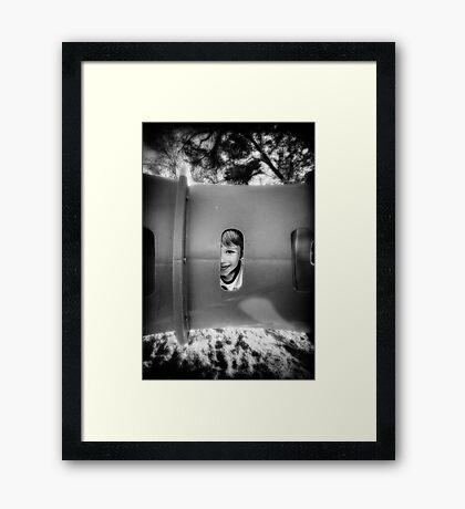 Tube Boy Framed Print