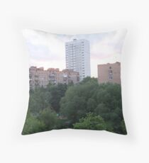 Lonely high-rise building... Throw Pillow