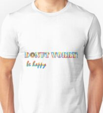 Donut worry be happy Slim Fit T-Shirt