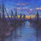 Oceanside Sunset (Pastel) by Niki Hilsabeck