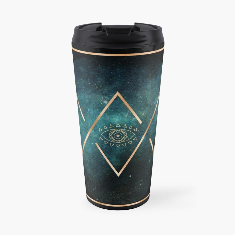 Mug isotherme «Eye Moon - Mandala bohémien tribal géométrique»