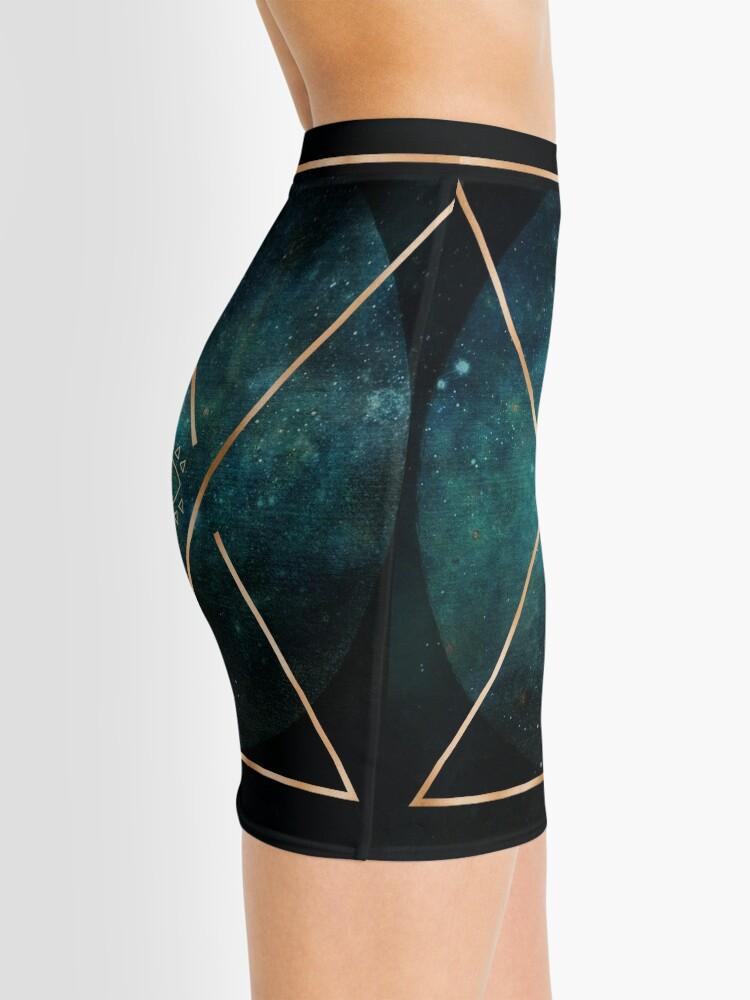 Minijupe ''Eye Moon - Mandala bohémien tribal géométrique': autre vue