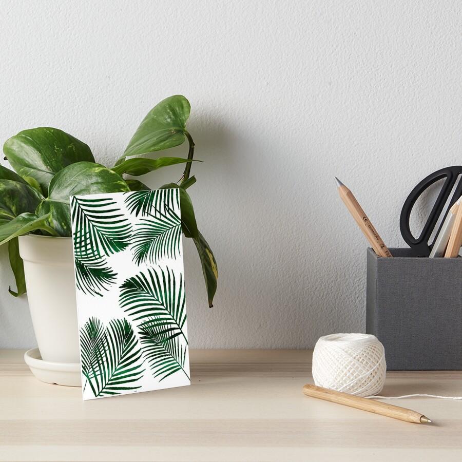Tropical Palm Leaf Art Board Print