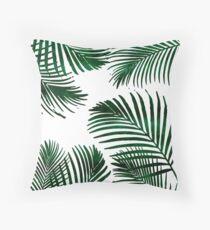 Tropisches Palmblatt Dekokissen