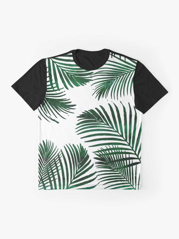Alternate view of Tropical Palm Leaf Graphic T-Shirt