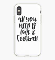 Vinilo o funda para iPhone Todo lo que necesitas es amor y fútbol