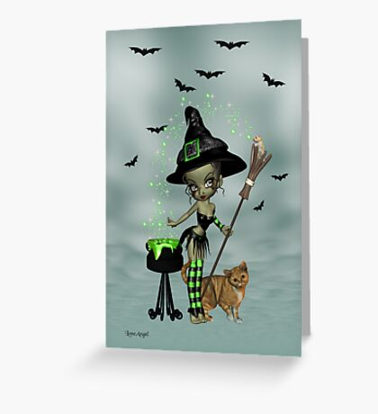 Little Witchy Greeting Card