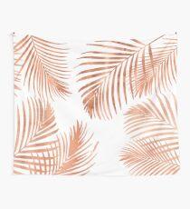 Rose Gold Palmblätter Wandbehang